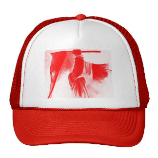 Grim Reaper of Death, Red Tinted Trucker Hat