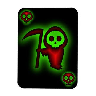 Grim Reaper of Skulls Premium Flexi Magnet