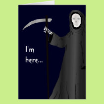 Grim Reaper Old Age Joke Funny Birthday Card