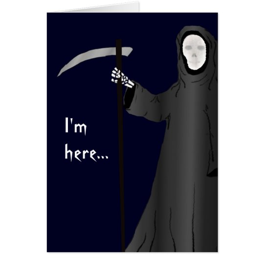 Grim reaper old age joke funny birthday card zazzle grim reaper old age joke funny birthday card bookmarktalkfo Image collections