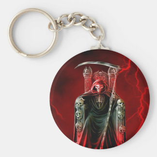 Grim Reaper On His Throne Keychain