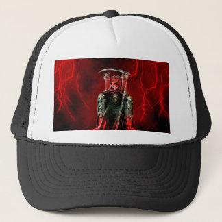Grim Reaper On His Throne Trucker Hat