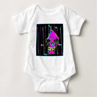 Grim Reaper over VALPYRA  Pink by Valpyra Baby Bodysuit