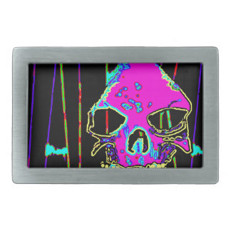 Grim Reaper over VALPYRA Pink by Valpyra Rectangular Belt Buckle