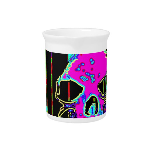 Grim Reaper over VALPYRA Pink by Valpyra Beverage Pitcher
