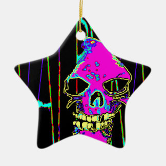 Grim Reaper over VALPYRA Pink by Valpyra Ceramic Ornament