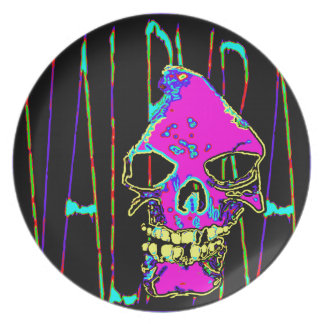 Grim Reaper over VALPYRA Pink by Valpyra Dinner Plate