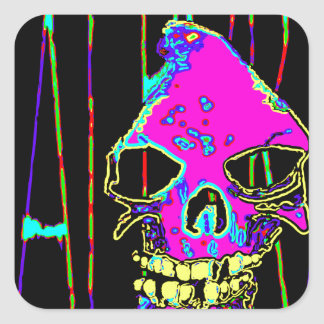 Grim Reaper over VALPYRA Pink by Valpyra Square Sticker