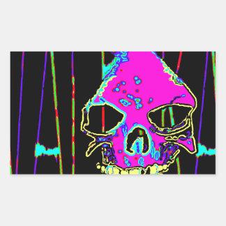 Grim Reaper over VALPYRA Pink by Valpyra Rectangular Sticker