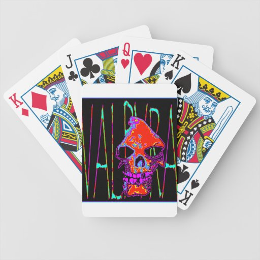 Grim Reaper over VALPYRA  Red by Valpyra Bicycle Playing Cards