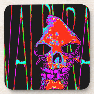 Grim Reaper over VALPYRA  Red by Valpyra Drink Coasters