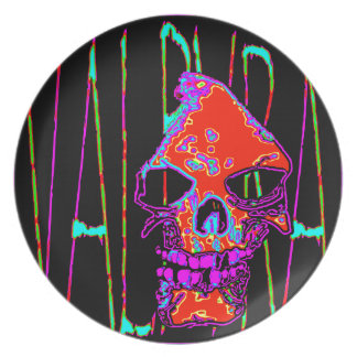 Grim Reaper over VALPYRA  Red by Valpyra Dinner Plates