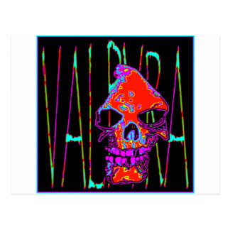 Grim Reaper over VALPYRA  Red by Valpyra Postcard