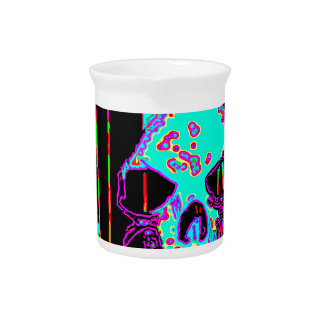 Grim Reaper over VALPYRA Turquoise by Valpyra Beverage Pitcher