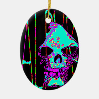Grim Reaper over VALPYRA Turquoise by Valpyra Ceramic Ornament