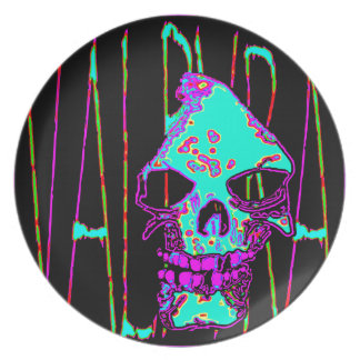 Grim Reaper over VALPYRA Turquoise by Valpyra Plate