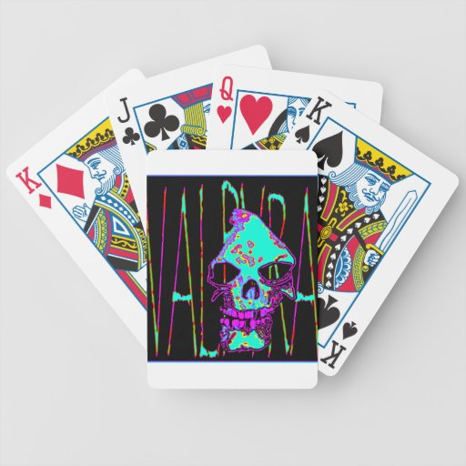 Grim Reaper over VALPYRA Turquoise by Valpyra Poker Cards