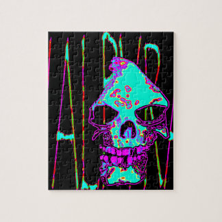Grim Reaper over VALPYRA Turquoise by Valpyra Jigsaw Puzzles