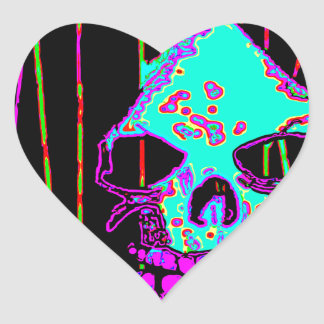 Grim Reaper over VALPYRA Turquoise by Valpyra Heart Sticker