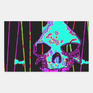 Grim Reaper over VALPYRA Turquoise by Valpyra Rectangular Sticker