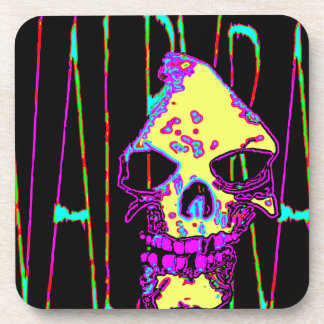 Grim Reaper over VALPYRA Yellow by Valpyra Beverage Coaster