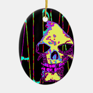 Grim Reaper over VALPYRA Yellow by Valpyra Ceramic Ornament