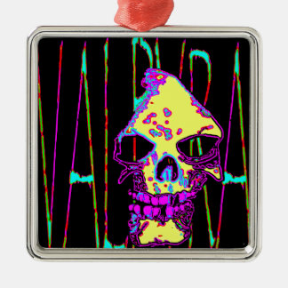Grim Reaper over VALPYRA Yellow by Valpyra Metal Ornament