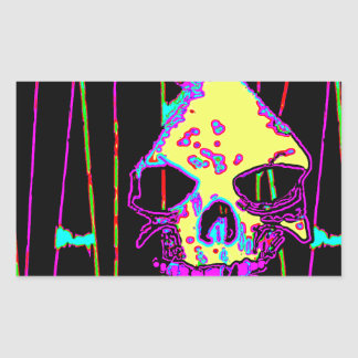 Grim Reaper over VALPYRA Yellow by Valpyra Rectangular Sticker
