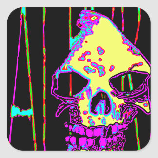 Grim Reaper over VALPYRA Yellow by Valpyra Square Sticker