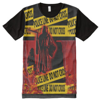 Grim reaper police tape blood All-Over-Print T-Shirt