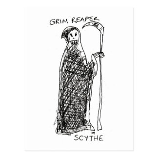 Grim Reaper Postcard