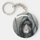 Grim Reaper Rat Keychain