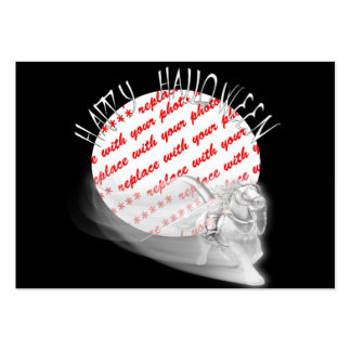 Grim Reaper Rides Again Halloween Photo Frame Large Business Cards (Pack Of 100)