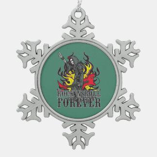 Grim Reaper Rock Forever Guitar Snowflake Ornament