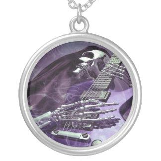 Grim Reaper's Guitar Round Necklace