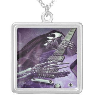 Grim Reaper's Guitar Square Necklace