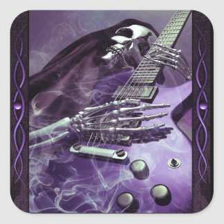 Grim Reaper's Guitar Sticker