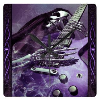 Grim Reaper's Guitar Wall Clock