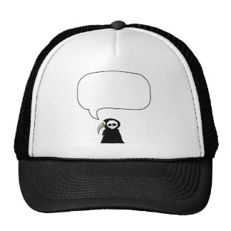 Grim Reaper Say Anything Trucker Hat