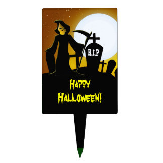 Grim Reaper Scary Halloween Cake Topper