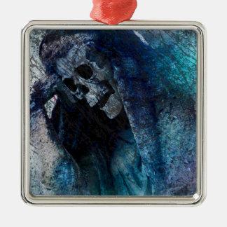 Grim Reaper Skeleton Metal Ornament