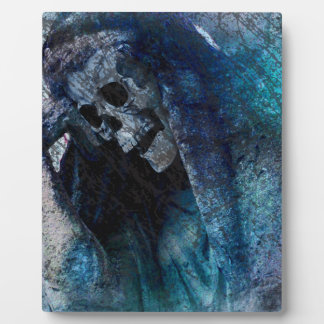 Grim Reaper Skeleton Plaque