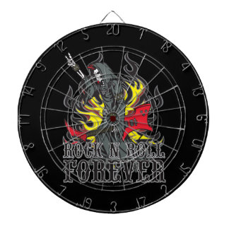 Grim Reaper Skull Rock and Roll Music Dartboard