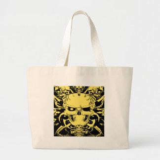 Grim Reaper Skull Tattoo #81 Large Tote Bag