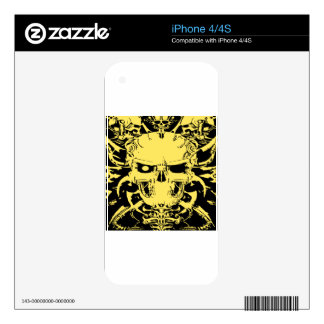 Grim Reaper Skull Tattoo #81 Skin For The iPhone 4S