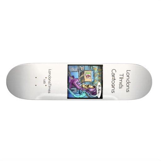 Grim Reaper & Skythe Funny Skateboards Custom Skateboard