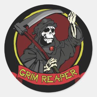 Grim Reaper Stickers/Envelope Seals Classic Round Sticker