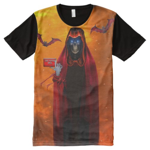 GRIM REAPER SUMMONS YOU All_Over_Print T_Shirt