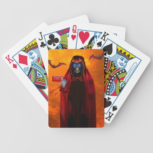 GRIM REAPER SUMMONS YOU BICYCLE PLAYING CARDS