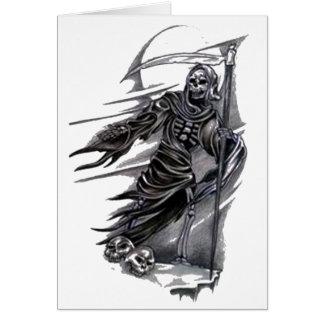 Grim Reaper Taking Souls Card
